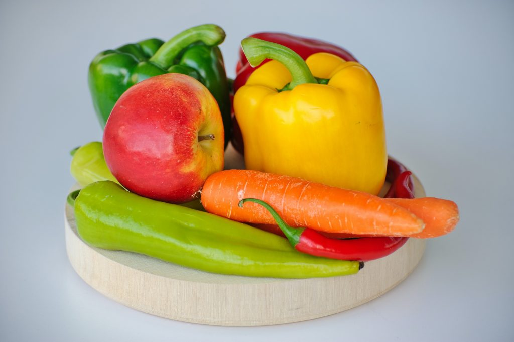 Image of a bowl of fruit and vegetables