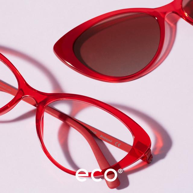 Eco eyewear - cat eye glasses and sunclip